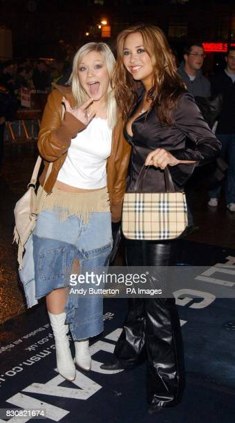 Suzanne Shaw and Myleene Klass from pop group Hearsay arriving at the Empire Cinema in London's Leicester Square for the premiere of Ali G InDaHouse