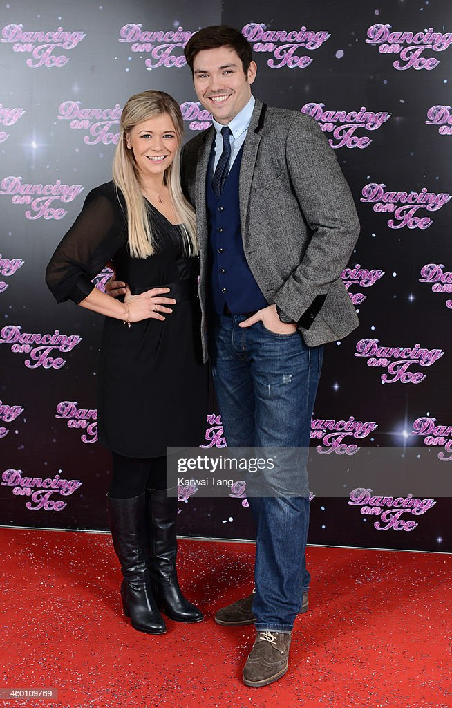 Suzanne Shaw and Sam Attwater attend the series launch photocall for 'Dancing on Ice' held at the London Studios on January 2, 2014 in London, England.