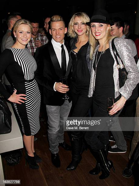 Suzanne Shaw, Patrick Helm, Ali Bastian and Camilla Dallerup attend an after party celebrating the press night performance of 'Burn The Floor' at the...