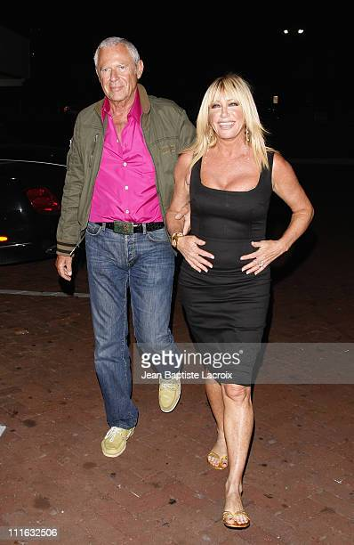 Suzanne Somers and Alan Hamel sighting on August 30 2008 in Malibu California
