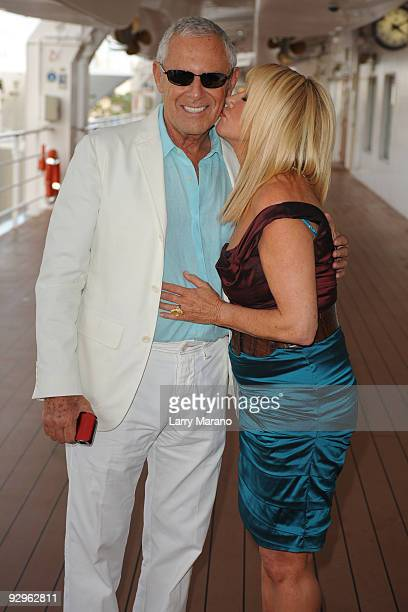 Suzanne Somers and her husband Alan Hamel attend MSC Poesia Celebration at Port Everglades on November 10 2009 in Fort Lauderdale Florida
