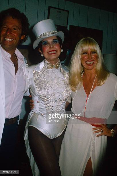 'Suzanne Somers and her husband Alan Hamel with Ann Miller for ''Sugar Babies'' circa 1970 New York