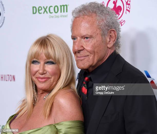 Suzanne Somers and husband Alan Hamel arrive at the 2018 Carousel Of Hope Ball at The Beverly Hilton Hotel on October 6 2018 in Beverly Hills...