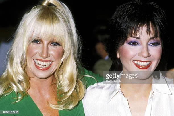 Suzanne Somers and Joyce DeWitt during Press Preview and Luncheon For 'Three's Company' and 'The Ropers' at Beverly Hilton Hotel in Beverly Hills...