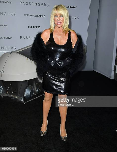 Suzanne Somers arrives at the Premiere Of Columbia Pictures' 'Passengers' at Regency Village Theatre on December 14 2016 in Westwood California