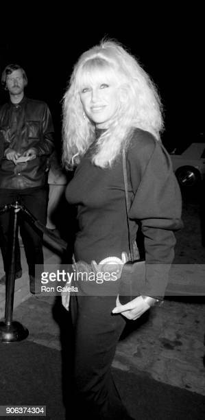 Suzanne Somers attend Barbara Mandrell Concert Party on February 28 1986 at the Sheraton Premiere Hotel in Los Angeles California