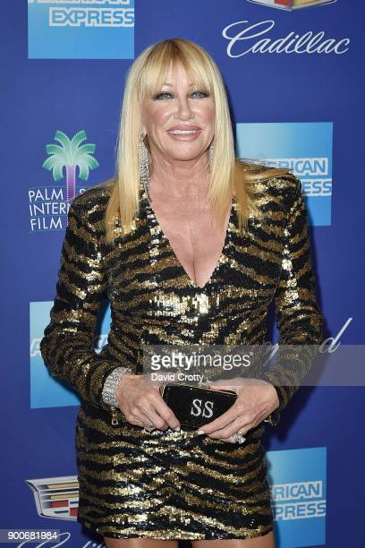 Suzanne Somers attends the 29th Annual Palm Springs International Film Festival Film Awards Gala Arrivals at Palm Springs Convention Center on...