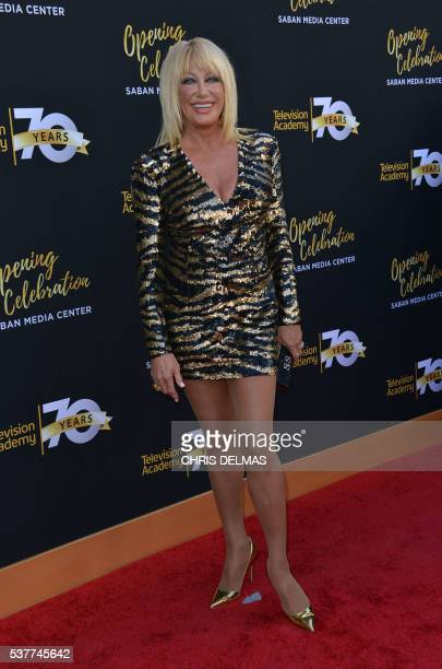 Suzanne Somers attends the Television Academy 70th Anniversary Celebration in Los Angeles California on June 2 2016 / AFP / CHRIS DELMAS