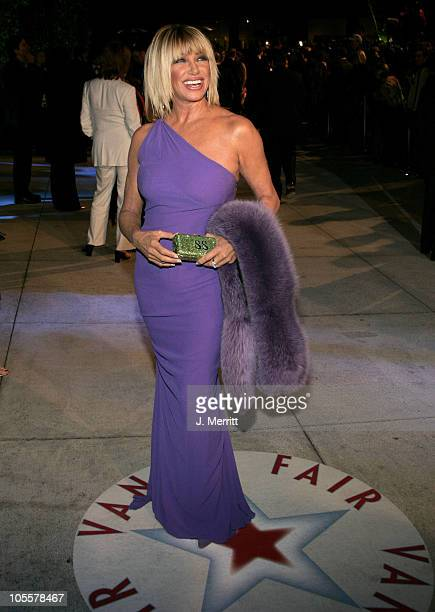 Suzanne Somers during 2005 Vanity Fair Oscar Party at Mortons in Los Angeles California United States