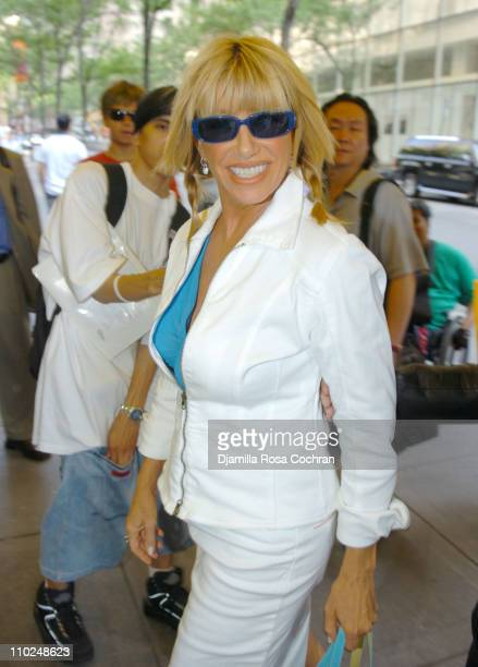 Suzanne Somers during Suzanne Somers Sighting in New York City July 12 2005 at Street of New York City in New York City New York United States