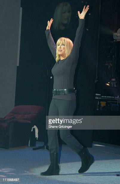 Suzanne Somers during Suzanne Somers Stars in Her OneWoman Broadway Show The Blonde in the Thunderbird July 12 2005 at Brooks Atkinson Theatre in New...