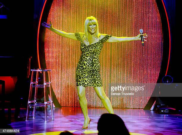 Suzanne Somers performs during her Las Vegas residency show grand opening at Westgate Hotel and Casino on May 23 2015 in Las Vegas Nevada
