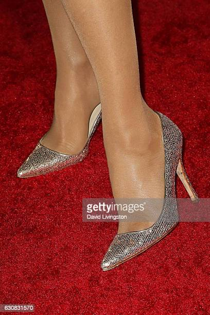 Suzanne Somers shoe detail arrives at the 28th Annual Palm Springs International Film Festival Film Awards Gala at the Palm Springs Convention Center...
