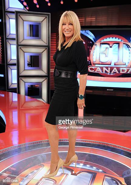 Suzanne Somers Visits ET Canada to Promote her novel 'Knockout' at the ET Canada Studios on October 26 2009 in Toronto Canada