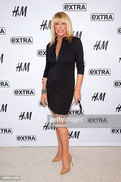 Suzanne Somers visits 'Extra' at their New York studios at HM in Times Square on April 16 2015 in New York City