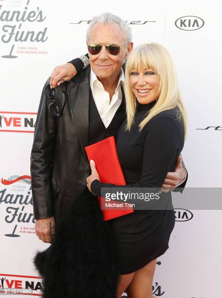 Suzanne Summers and Alan Hamel arrive to the Steven Tyler and Live Nation presents Inaugural Gala Benefitting Janie's Fund held at Red Studios on...