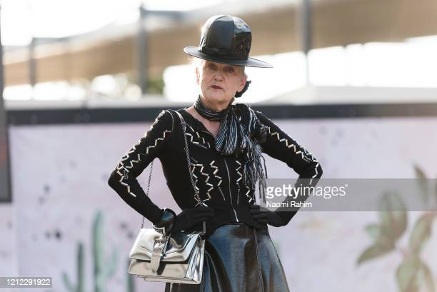 Suzanne Suzette wears Elliot ahead of Runway 1 at Melbourne Fashion Festival on March 11 2020 in Melbourne Australia