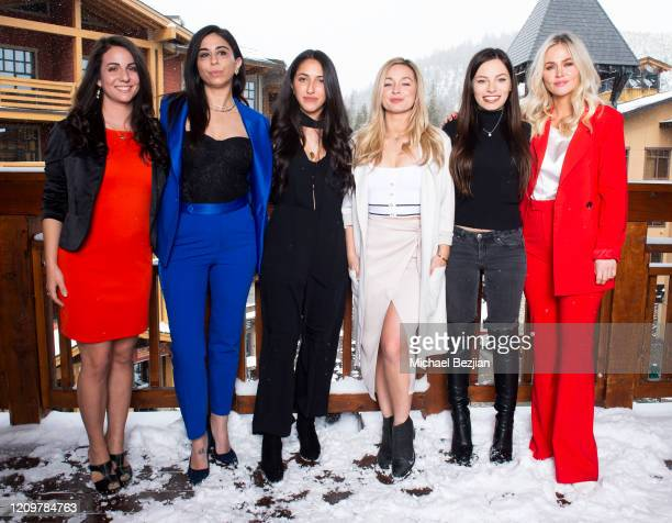 Suzanne Toni Courtenay Semel Heliya Alam Courtney Paige Siena Oberman and Hanna Griffiths pose for portrait at 3rd Annual Mammoth Film Festival...