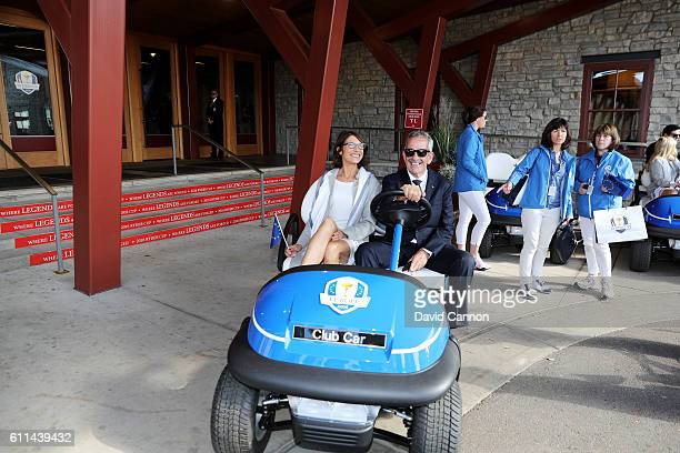 Suzanne Torrance and vicecaptain Sam Torrance of Europe attend the 2016 Ryder Cup Opening Ceremony at Hazeltine National Golf Club on September 29...