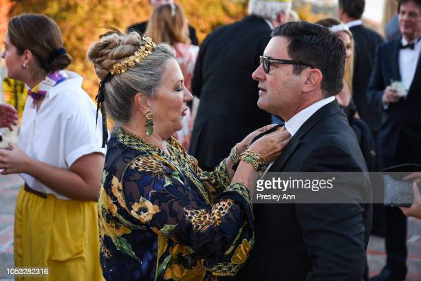Suzanne Tucker and David Phoenix attend Hearst Castle Preservation Foundation Hollywood Royalty Dinner at Hearst Castle on September 28 2018 in San...