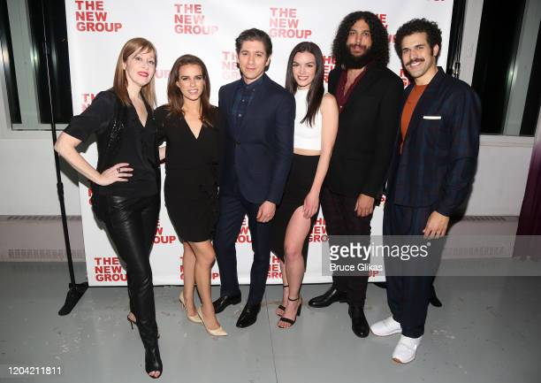 Suzanne Vega Ana Nogueira Michael Zegen Jennifer DamianoJamie Mohamdein and Joel Perez pose at the opening night party for the new musical Bob Carol...