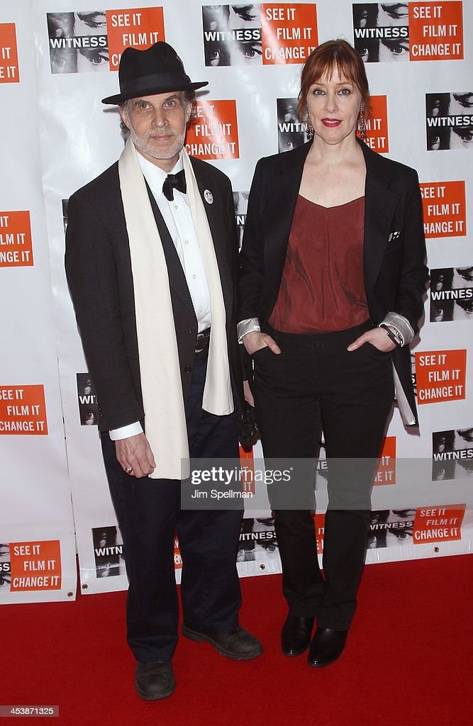 Suzanne Vega (R) and husband Paul Mills attend the 2013 Focus For Change gala benefiting WITNESS at Roseland Ballroom on December 5, 2013 in New York City.
