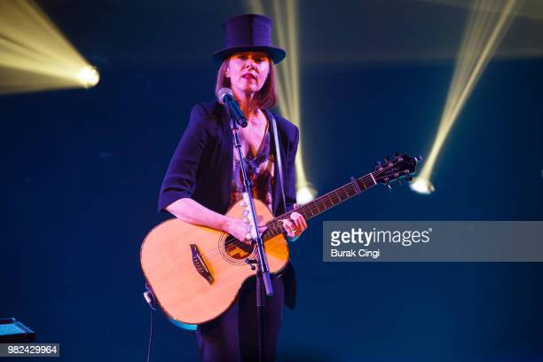 Suzanne Vega performs at Robert Smith's Meltdown festival at Queen Elizabeth Hall on June 23 2018 in London England