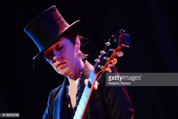 Suzanne Vega performs on stage at The Queen's Hall on October 9, 2016 in Edinburgh, Scotland.