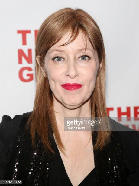 Suzanne Vega poses at the opening night party for the new musical Bob Carol Ted Alice at Green Fig Urban Eatery at Yotel on February 4 2020 in New...