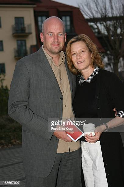 Suzanne Von Borsody And friend Jens Schniedenharn For The Party At The Founding Of A Pink Golf Club in Sport Spa Resort ARosa Scharmützel In Bad...
