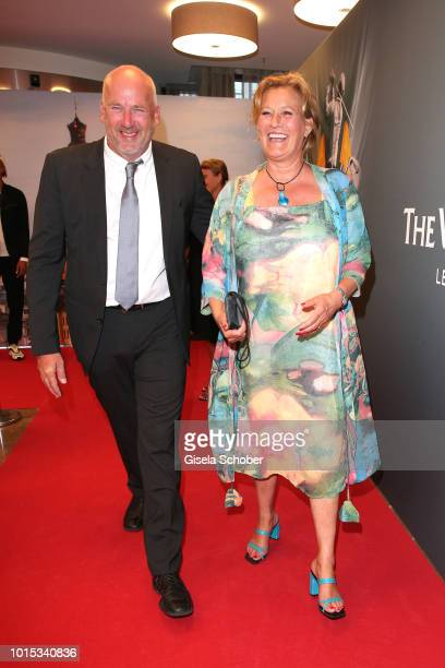 Suzanne von Borsody and her husband Jens Schniedenharn during the 11th GRK Golf Charity Masters reception on August 11 2018 at The Westin Hotel in...