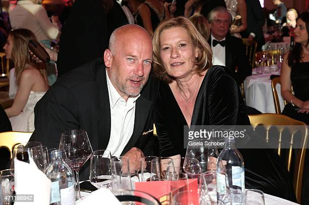 Suzanne von Borsody and her husband Jens Schniedenharn during the 26th ROMY Award 2015 at Hofburg Vienna on April 25 2015 in Vienna Austria