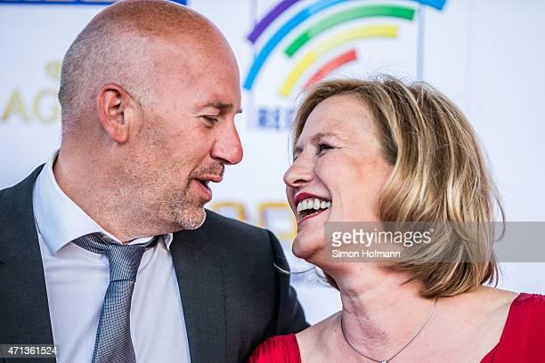 Suzanne von Borsody and Jan Schniedenharn attend the Radio Regebenbogen Award Show 2015 at Europapark on April 24 2015 in Rust Germany