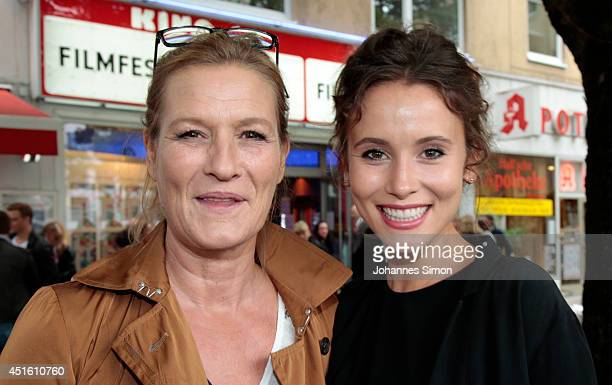 Suzanne von Borsody and Peri Baumeister attend the 'Maennertreu' premiere as part of Filmfest Muenchen 2014 at Rio Filmpalast on July 2 2014 in...