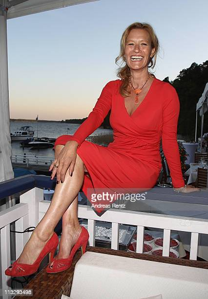 Suzanne von Borsody attends the anniversary party at the ARosa Golfclub Scharmuetzelsee on April 30 2011 in Bad Saarow Germany ARosa Golfclub...