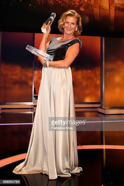 Suzanne von Borsody attends the Deutscher Fernsehpreis 2014 after show party on October 02 2014 in Cologne Germany