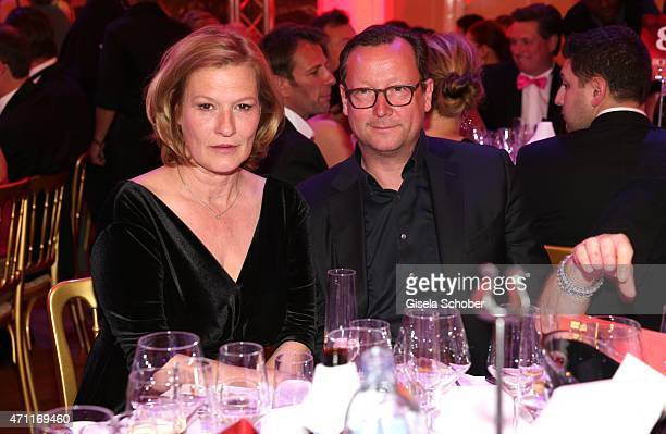 Suzanne von Borsody Matthias Brandt during the 26th ROMY Award 2015 at Hofburg Vienna on April 25 2015 in Vienna Austria