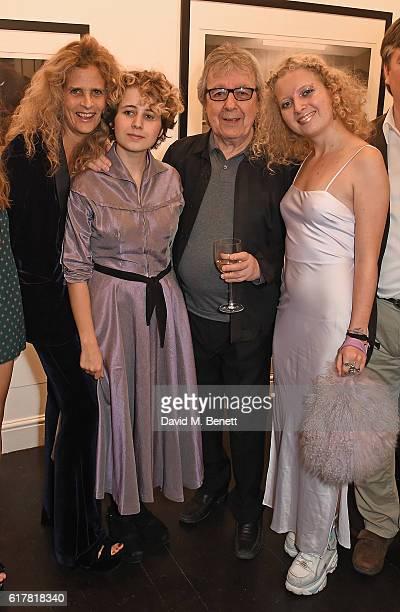 Suzanne Wayman Katherine Wyman Bill Wyman and Jessica Wyman attend a private view of Bill Wyman's photographic exhibition 'Around The World In 80...