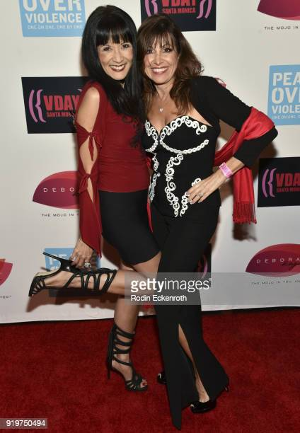 Suzanne Whang and Renee Piane attend the 20th Anniversary of V-Day at The Broad Stage on February 17, 2018 in Santa Monica, California.