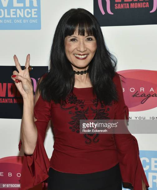 Suzanne Whang attends the 20th Anniversary of V-Day at The Broad Stage on February 17, 2018 in Santa Monica, California.