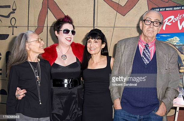 Suzanne Williams director Mary C Reese writer Nancye Ferguson and painter Robert Williams attend the Mr Bitchin screening and signing at American...