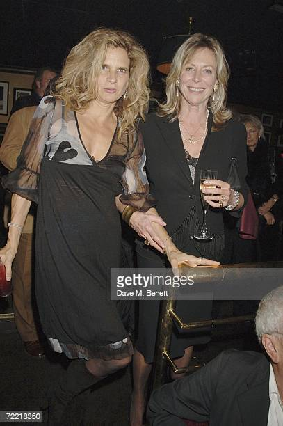Suzanne Wyman and Lorraine Ashton attend Bill Wyman's 70th birthday party at Ronnie Scotts Jazz club on October 18 2006 in London England