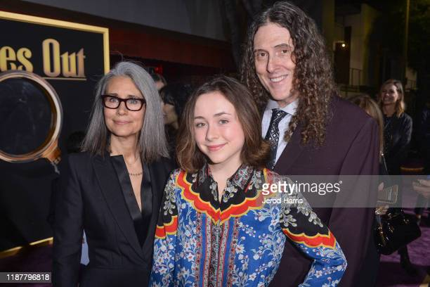 Suzanne Yankovic Nina Yankovic and Al Yankovic arrive at the Premiere of Lionsgate's 'Knives Out' at Regency Village Theatre on November 14 2019 in...