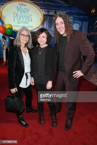 Suzanne Yankovic Nina Yankovic and Al Yankovic attends the Premiere Of Disney's 'Mary Poppins Returns' at El Capitan Theatre on November 29 2018 in...
