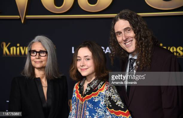 Suzanne Yankovic Nina Yankovic and Weird Al Yankovic arrive at the premiere of Lionsgate's Knives Out at the Regency Village Theatre on November 14...