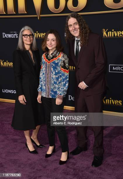 Suzanne Yankovic Nina Yankovic and Weird Al Yankovic attend the premiere of Lionsgate's Knives Out at Regency Village Theatre on November 14 2019 in...