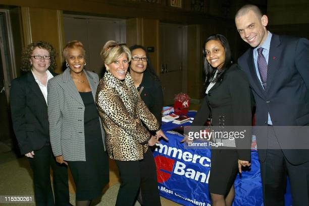 Suze Orman and guests during Suze Orman Signs Her Book Women Money Owning The Power To Control Your Destiny at Riverside Church in New York City...