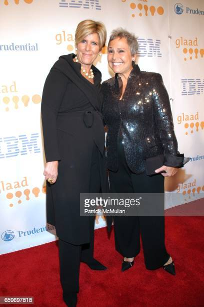 Suze Orman and Kathy Travis attend 20th Annual GLAAD MEDIA AWARDS to Honor TYRA BANKS and SUZE ORMAN at Marriott Marquis on March 28 2009 in New York...