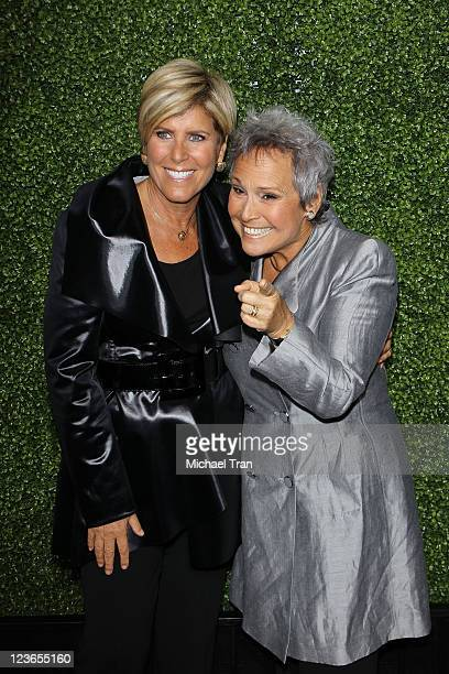 Suze Orman and Kathy Travis attend the 2011 TCA Winter Press Tour OWN Oprah Winfrey Network cocktail reception held at The Langham Huntington Hotel...