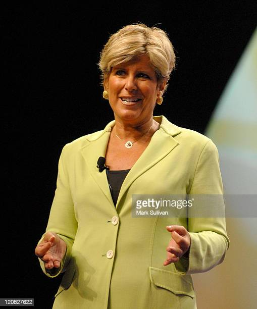 Suze Orman during The California Governor and First Lady's Conference on Women at Long Beach Convention Center in Long Beach California United States